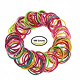 pigtail ties - 100 Counts Candy Color 3mm Thickness Toddlers' Hair ties Pigtail Baby Girls' Small Hair Ropes