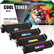 #LightningDeal 82% claimed: Cool Toner Compatible Toner Cartridge Replacement for HP 410X CF410X CF411X CF412X CF413X 410A CF410A M477FDW for HP Laserjet Pro MFP M477fdw M477fnw M477fdn Pro M452dn M452dw M452nw Toner Ink Printer