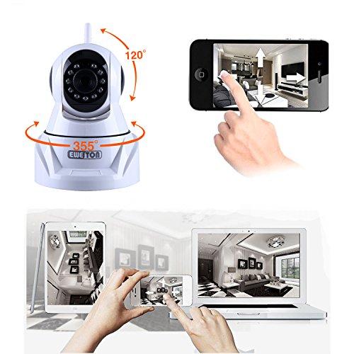EWETON 720P MegaPixel Wireless Cameras,Baby Monitor Home Security Camera,  PTZ IP Network Camera, Video Monitoring Camera, 8m 33ft IR-CUT Night Vision