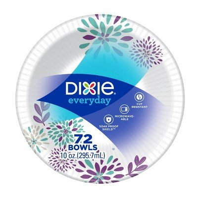 Dixie Everyday Multi Purpose Disposable Bowls - 72ct White