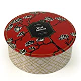 Seda France Jardins Du 3-Wick Candle Tin, Red Amber, 12 Ounce