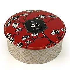 Red Amber Jardins du Seda France Three-Wick Candle Tin