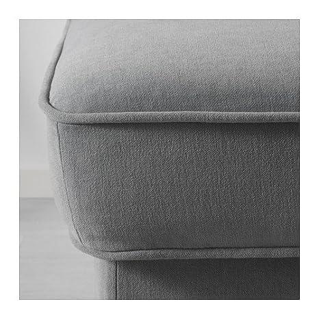 Amazon.com: IKEA Otomano, ljungen Gray, Negro/madera ...