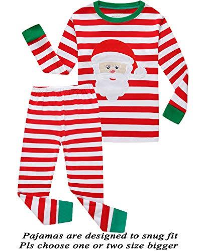 Dolphin&Fish Boys Girls Christmas Pajamas Reindeer Cotton Toddler Clothes Kids Pjs Children Sleepwear Size 8T