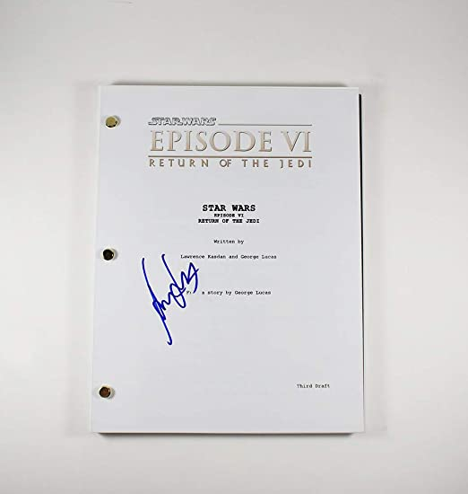 Harrison Ford Return Of The Jedi Rise Of Skywalker Han Solo Star Wars Autographed Signed Script Ga Certified Authentic Coa Rare At Amazon S Entertainment Collectibles Store