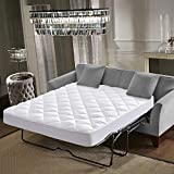 Everest Premium Plus Mattress Pad HypoallergenicQuilted Mattress Topper, Deep Pocket, Stretch to Fit, Microfiber,Extra Plush (Sleeper Sofa Compressed, Sleeper Sofa Full (54' x 72' + 12' Depth) 15oz)