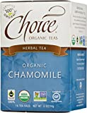 Choice Organic Teas Caffeine Free Herbal Tea, Chamomile, 16 Count