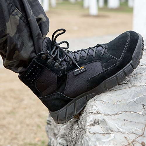 FREE SOLDIER Men's Tactical Boots 6'' inch Lightweight Military Boots for Hiking Work Boots Breathable Desert Boots (Black, 11.5) by FREE SOLDIER (Image #9)