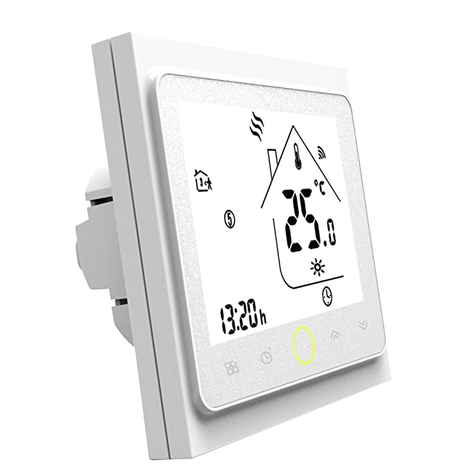 Yiruy Programmable WiFi Thermostat for Boiler Heating LCD Display Smart WiFi Temperature Controller Works with Alexa for Voice Control - - Amazon.com