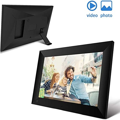 Tribe Glare Digital Picture Frame WiFi 10.1 Inch Screen Touch Display USB 16GB 1280HD Auto Rotate Motion Sensor,Digital Photo Frame with APP for Parents Gifts