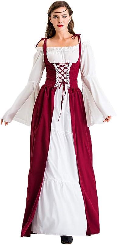 Costume de la Renaissance pour femme Pour cosplay et Halloween Style m/édi/éval victorien vintage