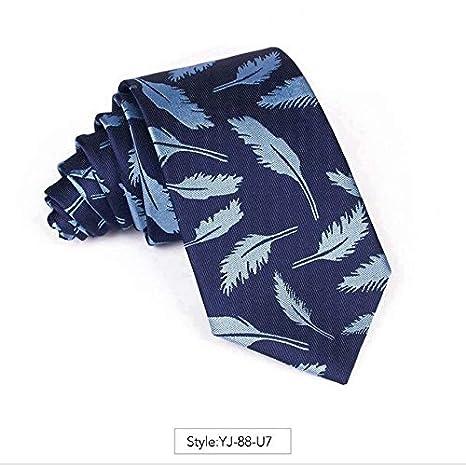 AYWEI Corbata Corbata para Hombre Jacquard Corbata Moda 7Cm ...