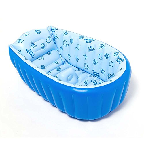 Baby BathTub, Portable Inflatable BathTub, Mini Swimming Pool, Foldable Thick Baby Infant Toddler Shower Basin with Soft Cushion for Baby