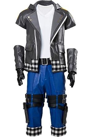 Wecos Kingdom Hearts III Riku Outfit Halloween Costume Uniform Jacket Pants  X-Small 30dc6746f9fb