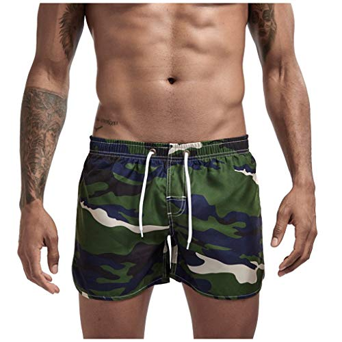 Mwzzpenpenpen Men's Summer Camouflage Sports Shorts Beach Quickly Dry Trunks Fashionable ComfortSoft Big Loose Pants