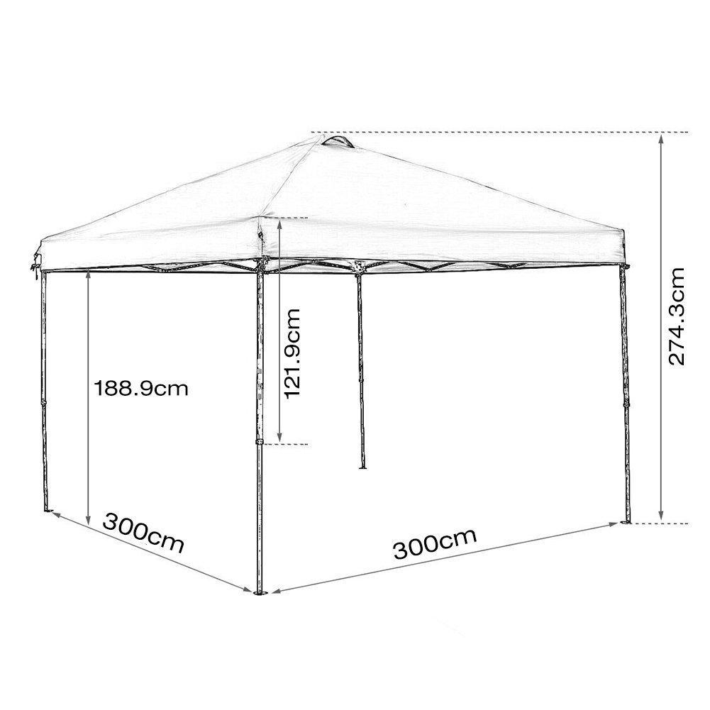 Amazon.de: Abba Patio Terrasse 10 x 10 ft Pop Up tragbar Schatten ...
