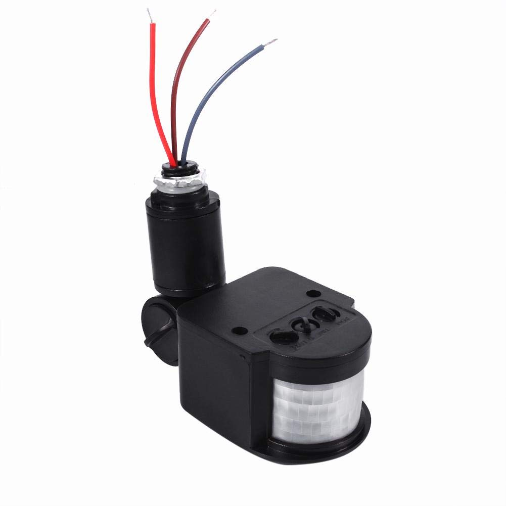 Zerodis Interruptor por detecci/ón de movimiento Interruptor autom/ático infrarrojo de la l/ámpara de pared del detector de sensor de movimiento de 90-250V PIR