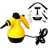Super buy Handheld Multi-purpose Pressurized Steam Cleaner, Sanitizer, Steamer, Steam Iron, 1050W, W/Attachments