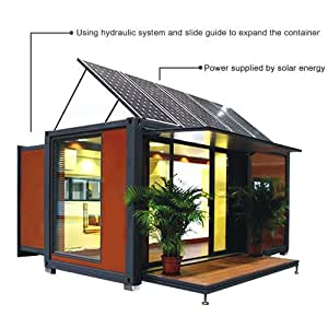 20ft 40ft expandable container house with solar energy garden outdoor. Black Bedroom Furniture Sets. Home Design Ideas