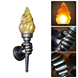 cheerfullus Innovative Retro Torch Wall Light Decorative Wall Flame Lamp for Garden Villa Bar Aisle Corridor Wall Light