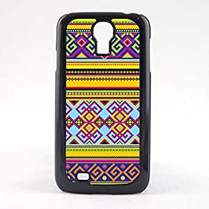 Case Fun Case Fun Yellow Aztec Pattern Snap-on Hard Back Case Cover for Samsun Galaxy S4 Mini (I9190)