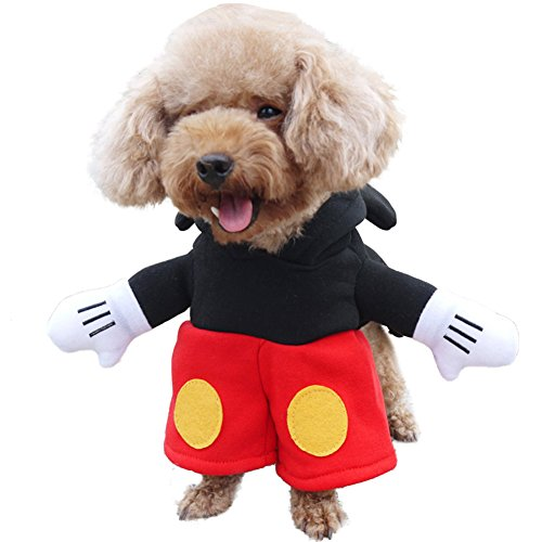 Minisweaty Dog Clothes Dog Costumes Pet Mickey and Minnie Halloween Outfits for Christmas (M, (Mickey Mouse Dog Costume Halloween)