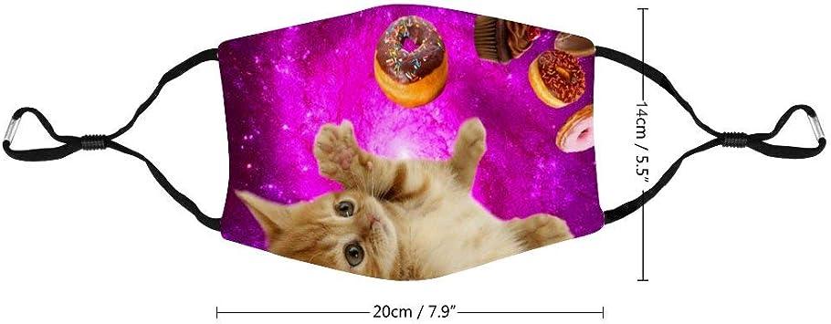 Waschbare Wiederverwendbare Masken Donut Katze Haustier Anti Staub Mundschutz Schwarze Baumwollmaske Für Radfahren Camping Reisen Baumarkt
