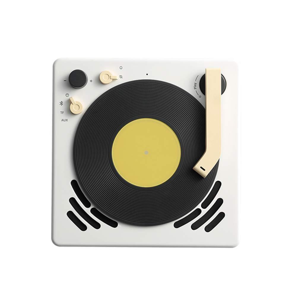 ミニスピーカー4.2 ブルートゥースレトロ蓄音機ポータブル自動ジュークボックス小型目覚まし時計スリープタイマーはハングターンテーブルステレオノイズリダクションタッチすることができます   B07PCRD4WB