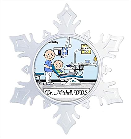Amazon Com Personalized Dentist Male Snow Flake Christmas