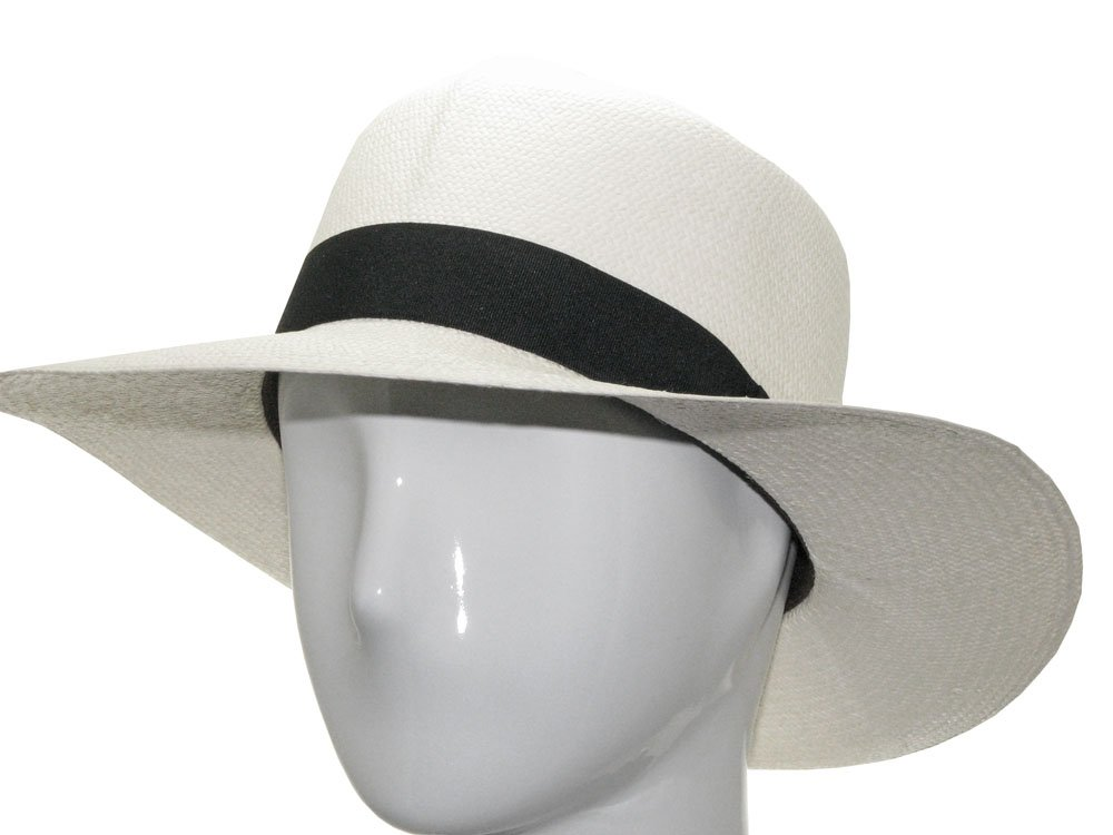 CARIBBEAN OPTIMO Panama Hat White Straw Rollup 7 5/8