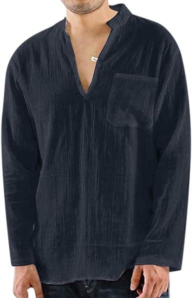 Camisas Lino Hombre Manga Corta Verano Camisa Vintage Blusa Informales Sueltas Suave Ligero Transpirable Top Color SóLido Casual Moda Vacaciones Tops Playeros T Shirt Hombre: Amazon.es: Ropa y accesorios