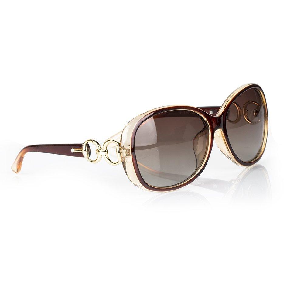 KRY Occhiali Da Sole Casual Polarizzati per donne, Occhiali da Sole Fashion UV400 Oversized di marca...
