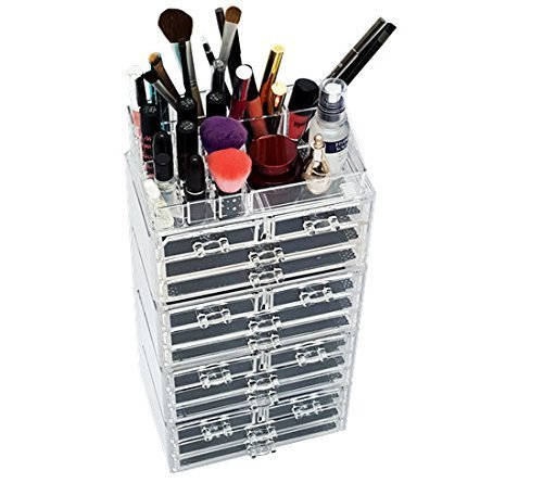 Unique home acrylic jewelry amp cosmetic storage makeup organizer
