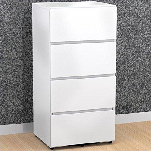 Scranton & Co 3 Drawer File Cabinet in White