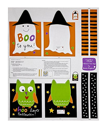 StudioE Fabrics Sandra Magsamen Huggable & Loveable Holiday Trick Or Treat Bag 36in Panel Multi Fabric