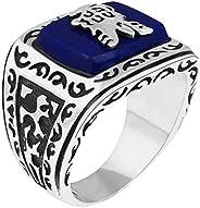 Kalendone Vintage the Vampire Diaries Jeremy's Reborn Ring Gilbert's Lapis Ring Jewelry 11 Christ