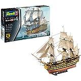 Revell Modellbausatz Schiff 1:225 - H.M.S. Victory im Maßstab 1:225, Level 4, originalgetreue Nachbildung mit vielen Details, Segelschiff, 05408