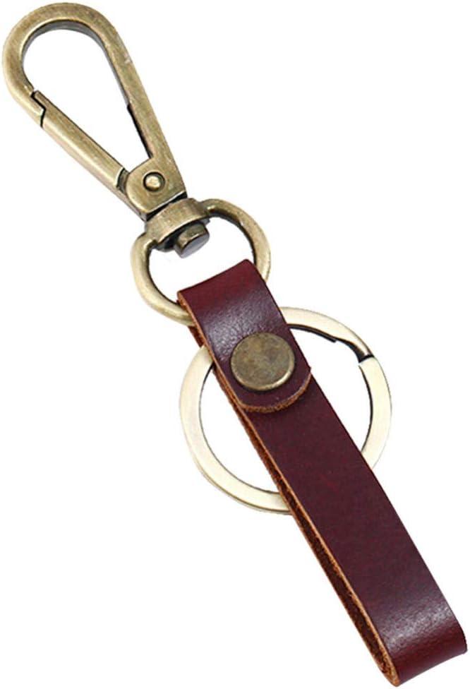 Regalos Accesorios Llavero Lazo Cuero Cinturón Bolsillo Cartera Hecha A Mano Organizador De Clips