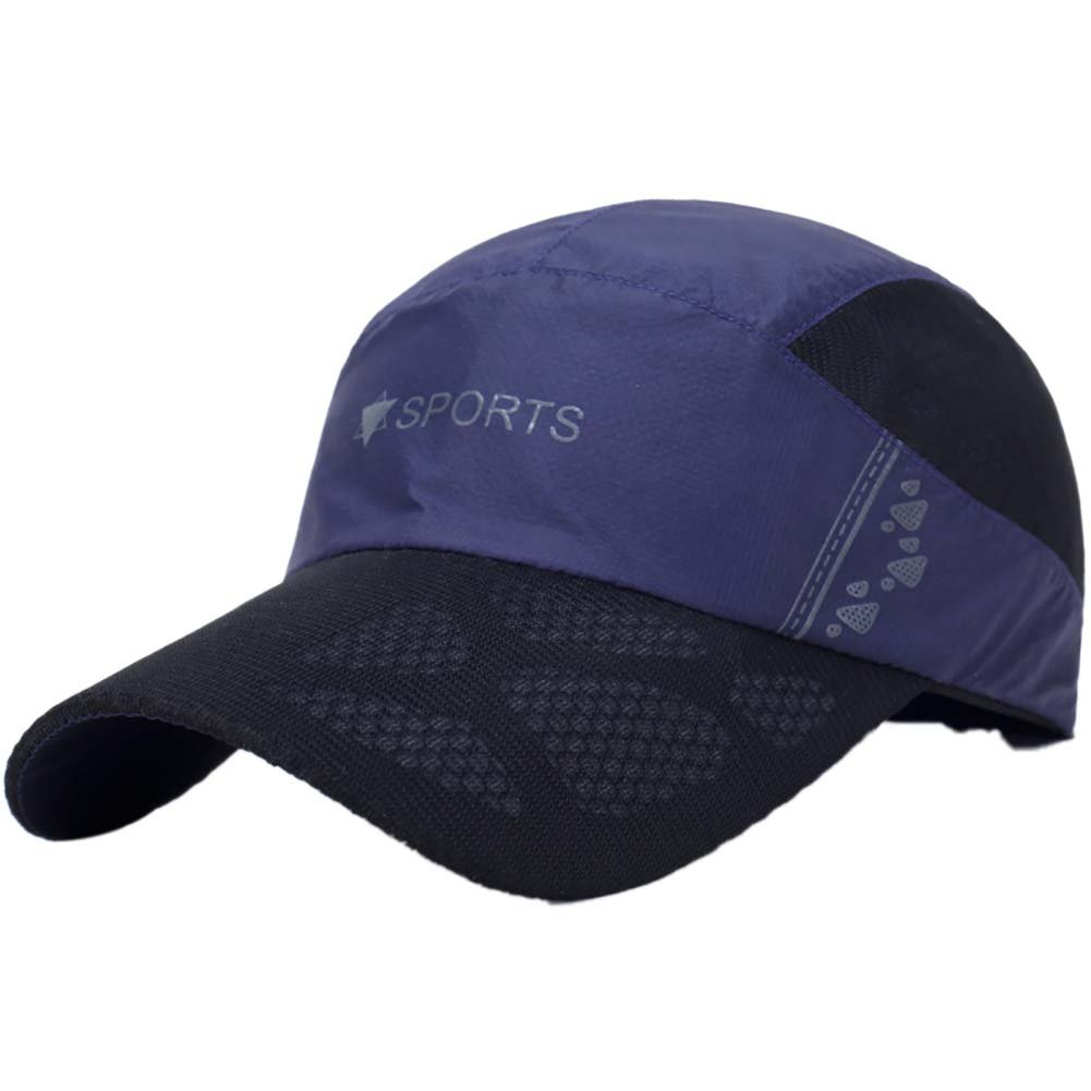 ab6908fdc5e Hankyky Men Women Peaked Cap 50+ Sunshade Quick Dry Anti-UV Adjustable Hats  for Outdoor Running Golf Tennis Hiking Black  Amazon.co.uk  Clothing
