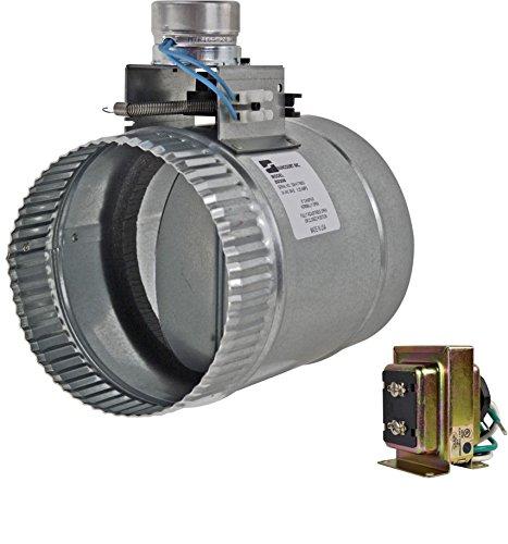 """ZO206 6"""" normally open adjustable damper - Diameter Motorized Damper"""