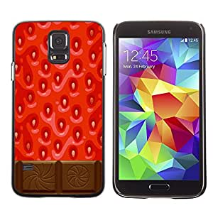 LECELL--Funda protectora / Cubierta / Piel For Samsung Galaxy S5 SM-G900 -- Chocolate Red Sweet Food --