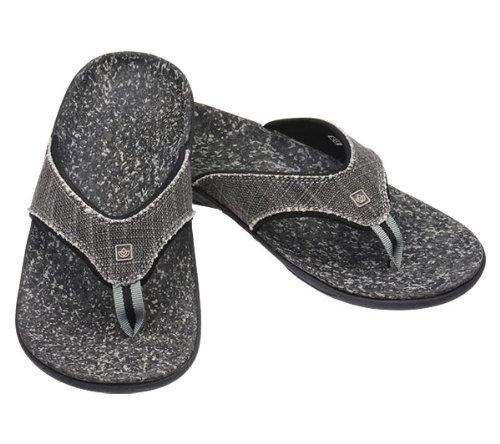 Black Spenco Yumi Select Canvas Sandals Mens 11