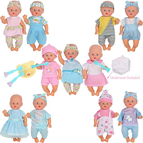 Beautiful Exquisite 10-11/'/'Reborn Baby Doll Clothes Sets Handmad Accessories Toy