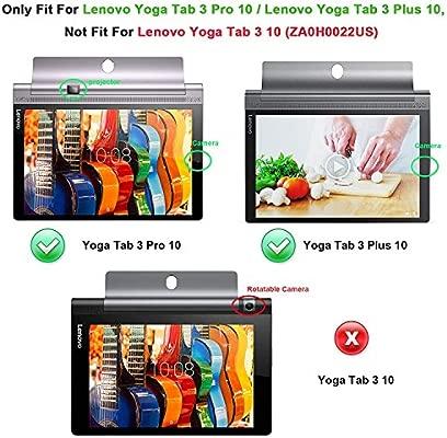 Kepuch 2 Paquetes Vidrio Templado Protector de Pantalla para Lenovo Yoga Tab 3 Plus 10.1 YT-X703 / Yoga Tab 3 Pro 10.1 YT3-X90L YT3-X90F