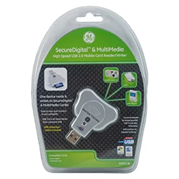 GE 97931 USB 2.0 Card Reader for Secure Digital and Multimedia