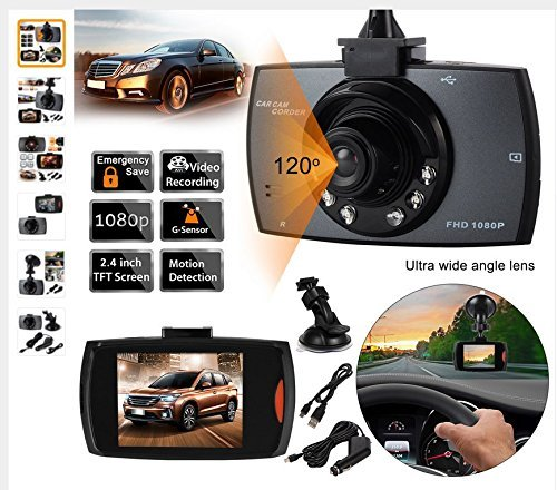 Advanced Portable Car Camcorder (Black) - 8