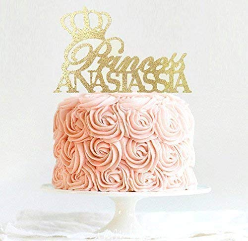 Princess or Prince Cake Topper, Personalized Tiara Cake Topper, Birthday Crown Cake Topper, First Birthday, Princess Birthday Decoration