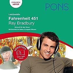 Fahrenheit 451 - Bradbury Lektürehilfe. PONS Lektürehilfe - Fahrenheit 451 - Ray Bradbury