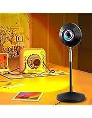 Sunset Projection Lamp, 180 Graden Rotatie Projectielamp LED Licht, Romantische Visuele Sfeerverlichting Lamp, Netwerk Rood Licht met USB, Nachtlampje voor Selfie/Woonkamer/Slaapkamer