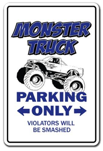 MONSTER TRUCK Parking Sign rally owner driver trucker| Indoor/Outdoor | 12